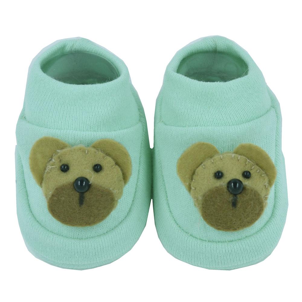 Pantufa de Bebê Nand Urso Verde
