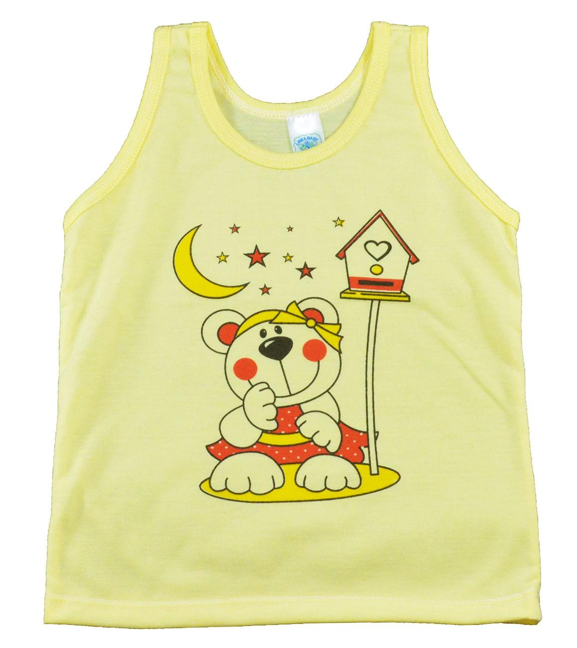 Regata de Bebê Amarela Feminina P/M/G