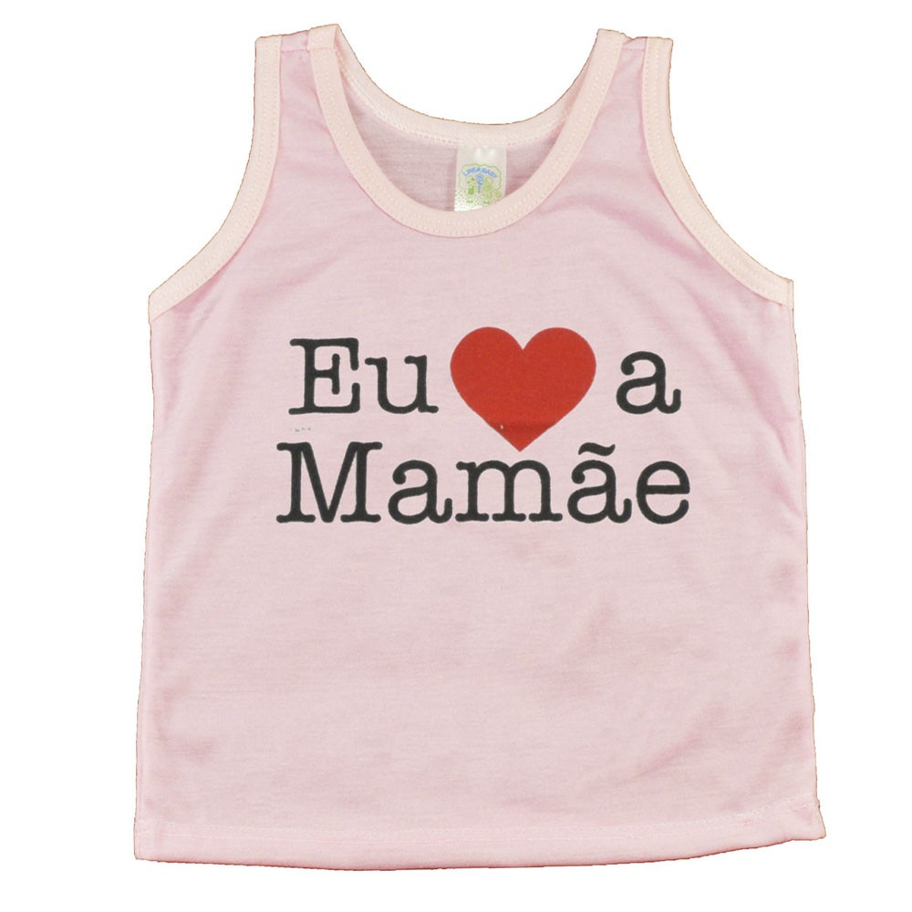 Regata de Bebê Rosa Eu Amo Mamãe P/M/G