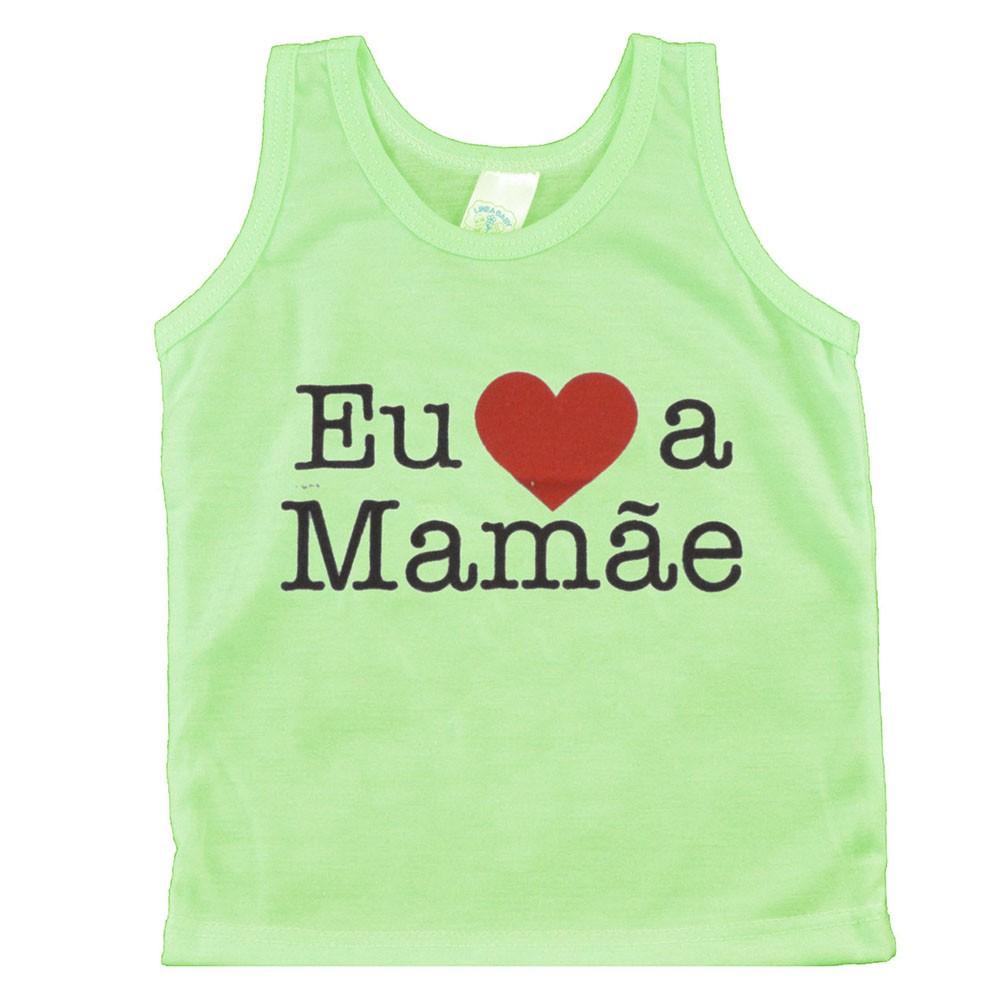 Regata de Bebê Verde Eu Amo Mamãe P/M/G