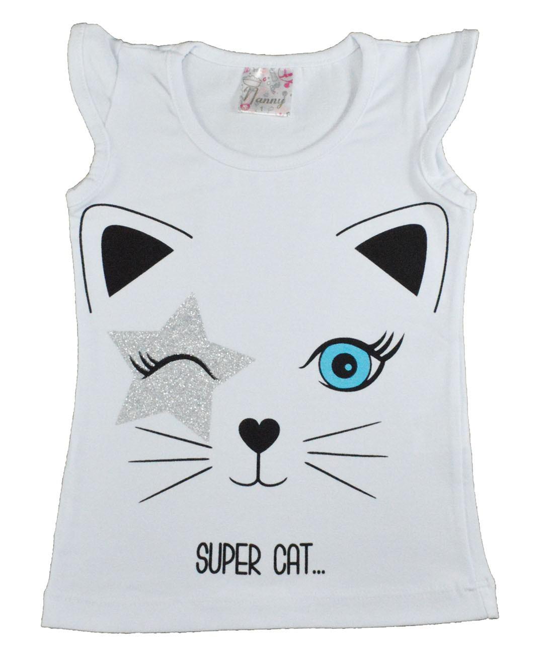 Regata Infantil Super Cat Branco