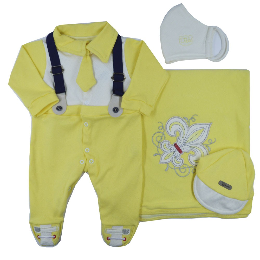 Saída Maternidade Amarela Djiele ref.2150