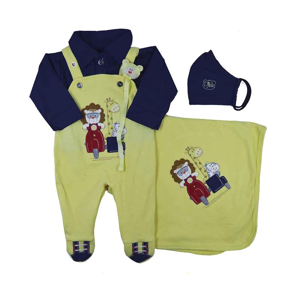 Saída Maternidade Amarelo Djiele ref.2149