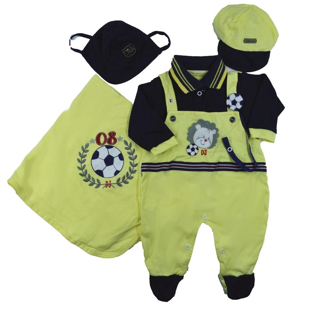 Saída Maternidade Amarelo Djiele ref.2153
