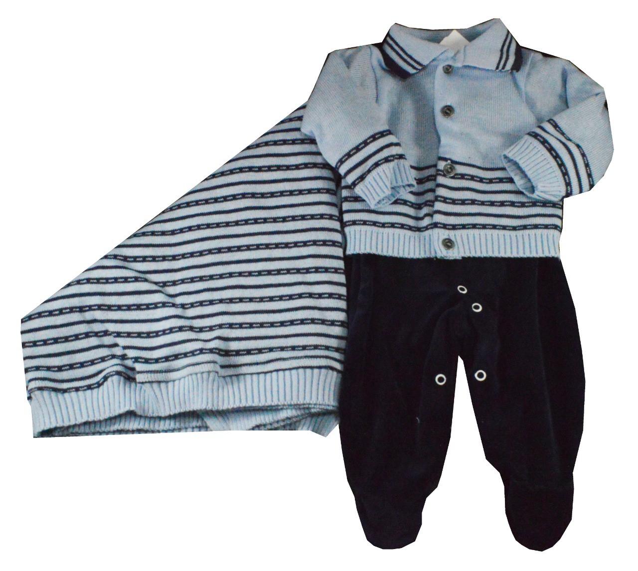 Saída Maternidade Azul Djiele ref.2060
