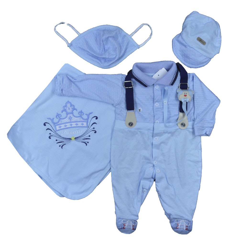 Saída Maternidade Azul Djiele ref.2141