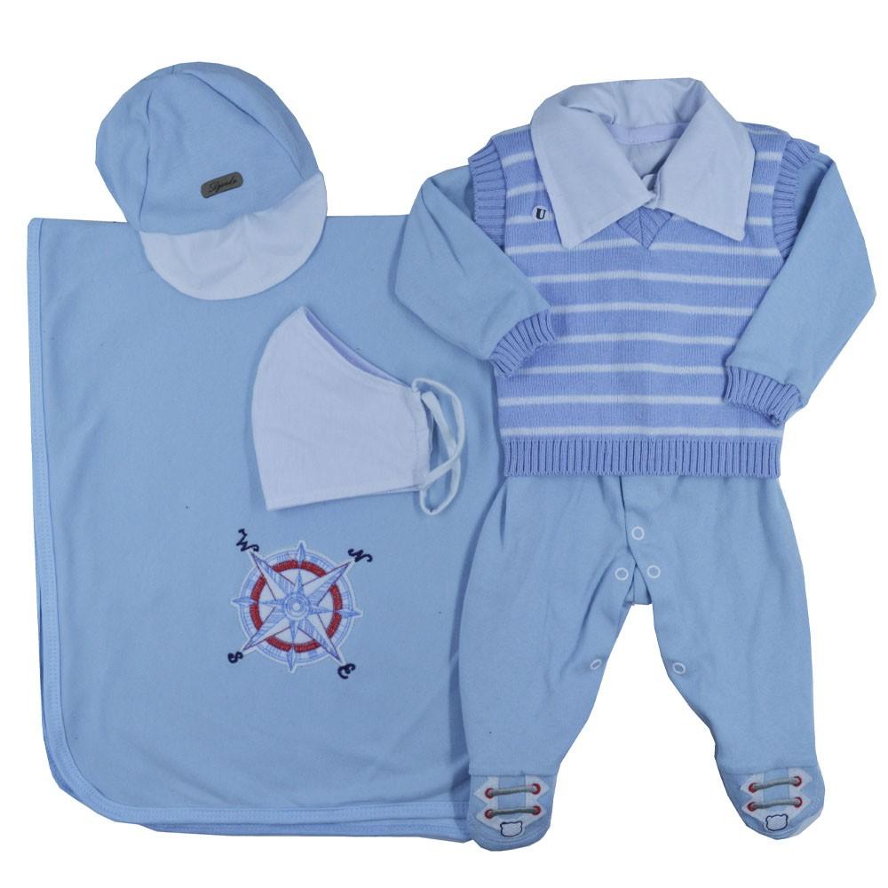 Saída Maternidade Azul Djiele ref.2147