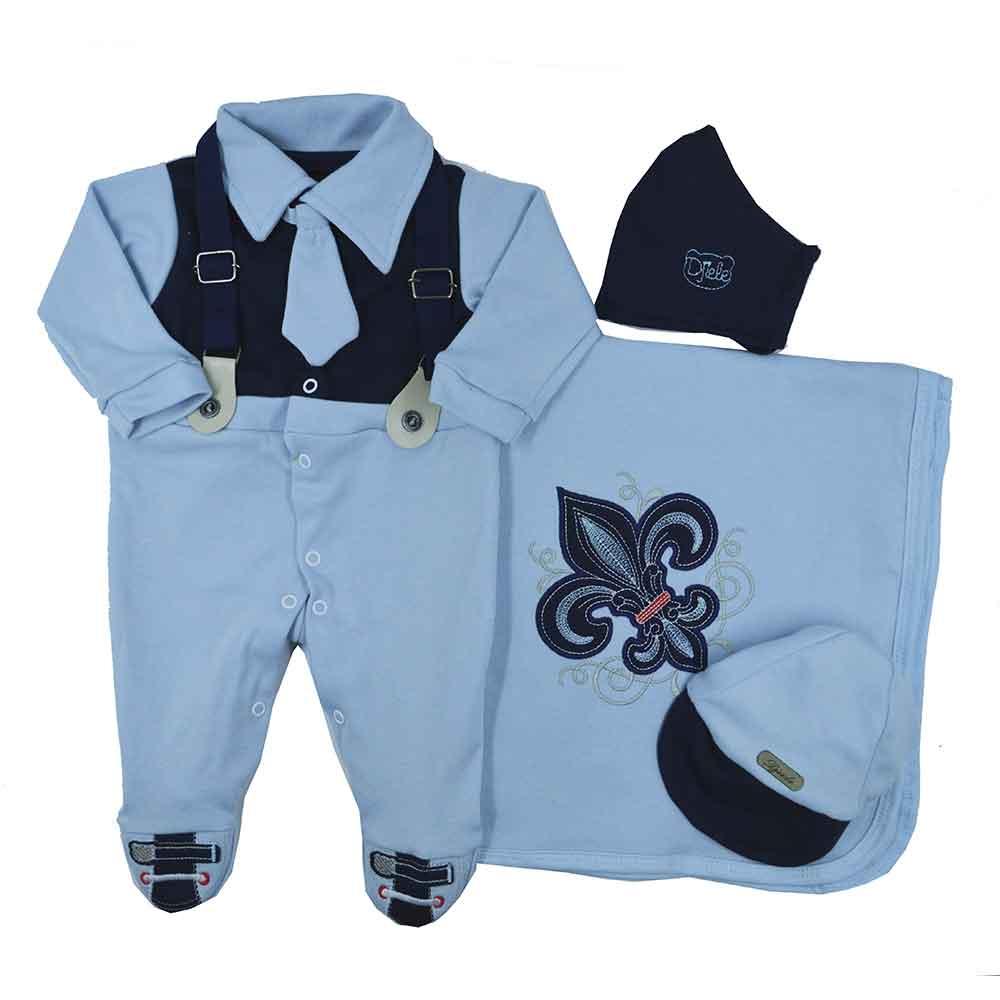 Saída Maternidade Azul Djiele ref.2150