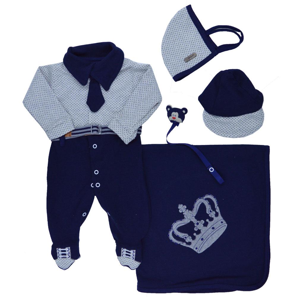 Saída Maternidade Azul Marinho Djiele ref.2298