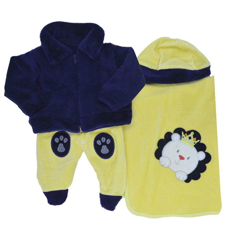 Saída Maternidade Plush Amarelo Djiele ref.2222