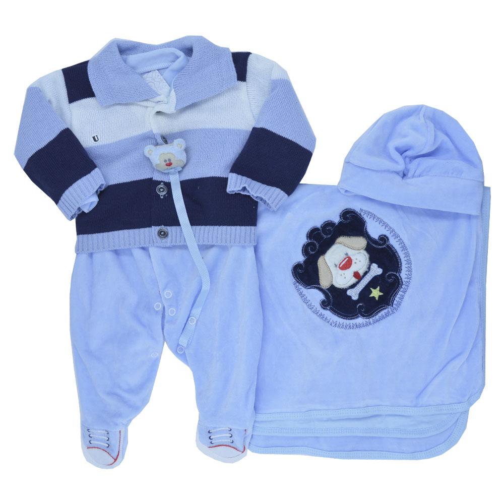 Saída Maternidade Plush Azul Djiele ref.2237