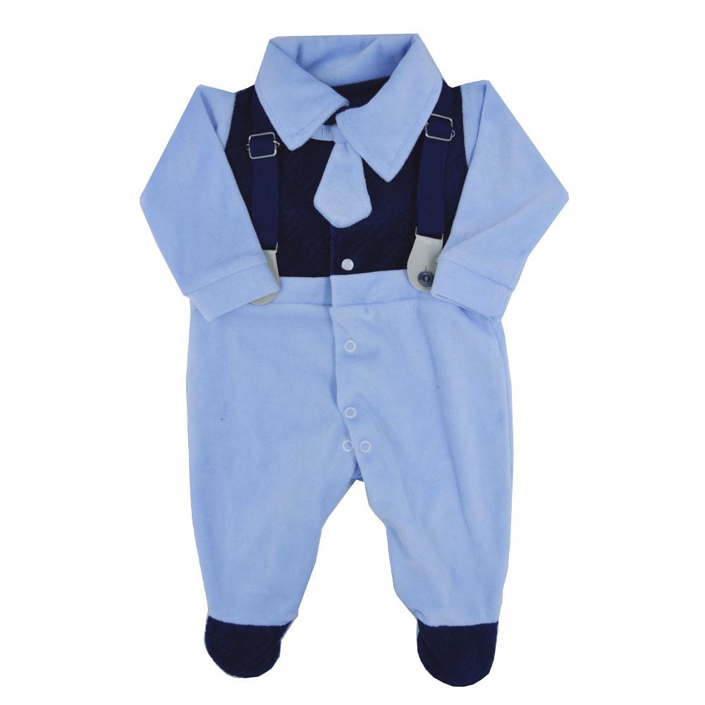 Saída Maternidade Plush Azul Marinho Djiele ref.2212