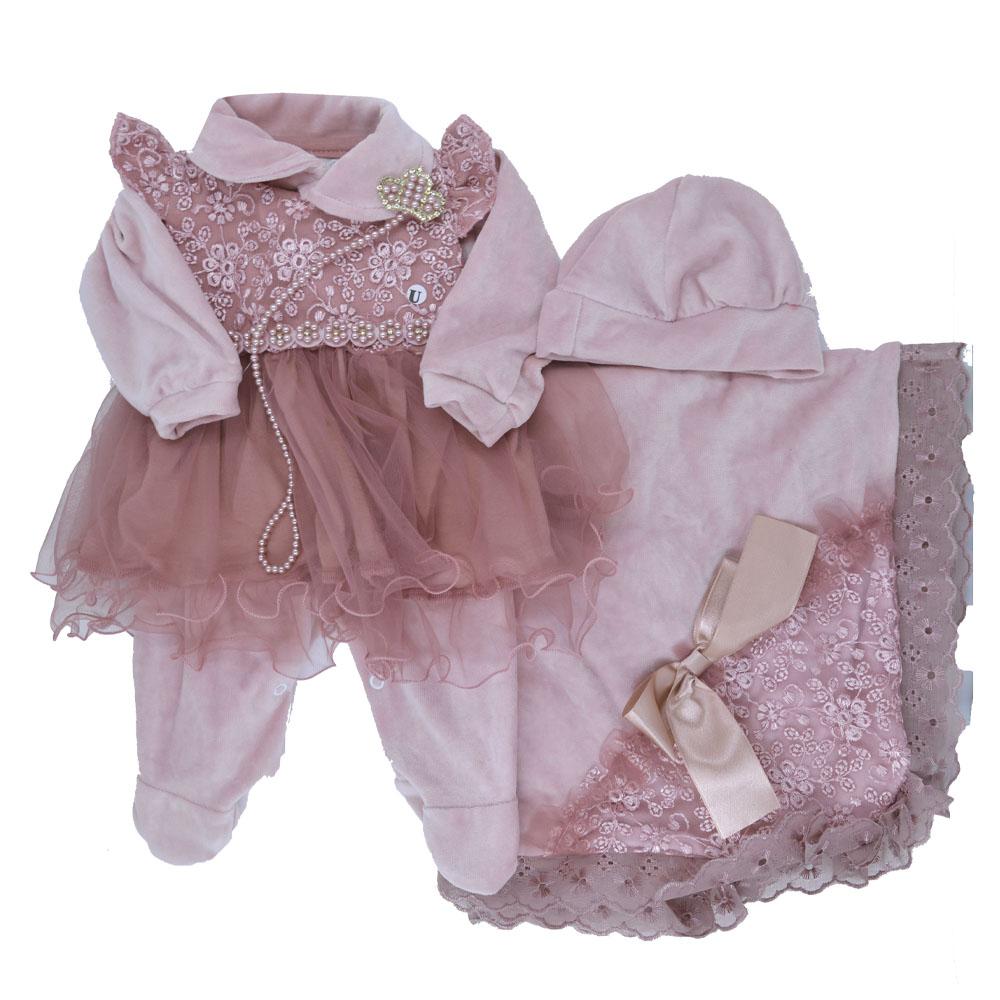 Saída Maternidade Plush Rosé Djiele ref.2223
