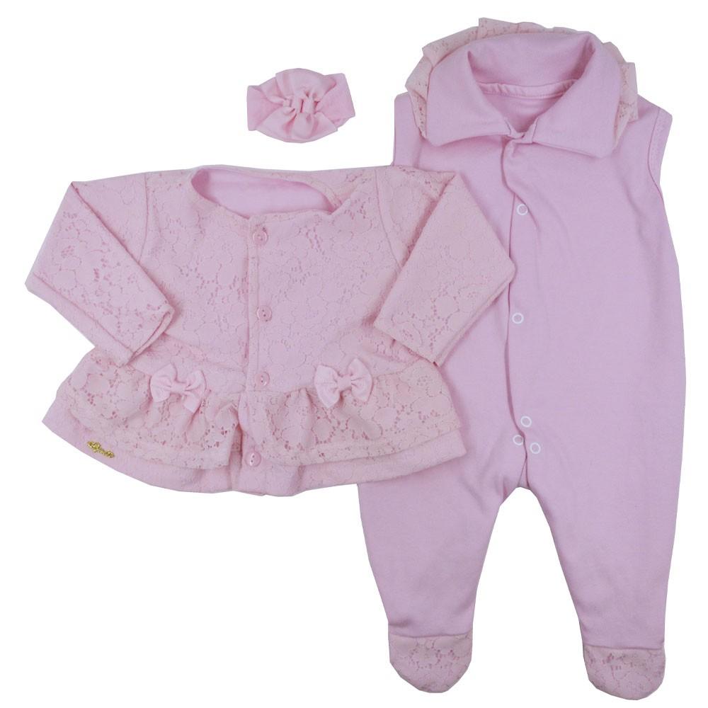 Saída Maternidade Rosa Djiele ref.2130