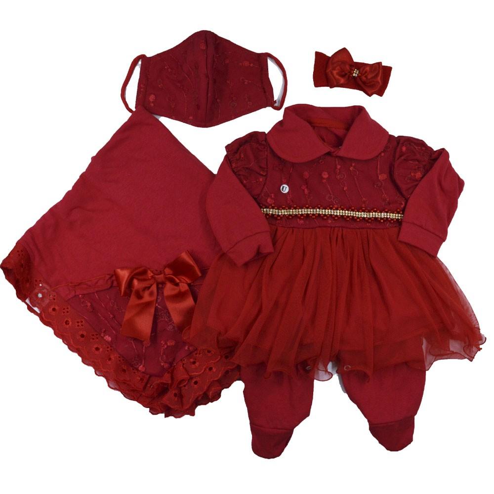 Saída Maternidade Vermelha  Djiele ref.2129