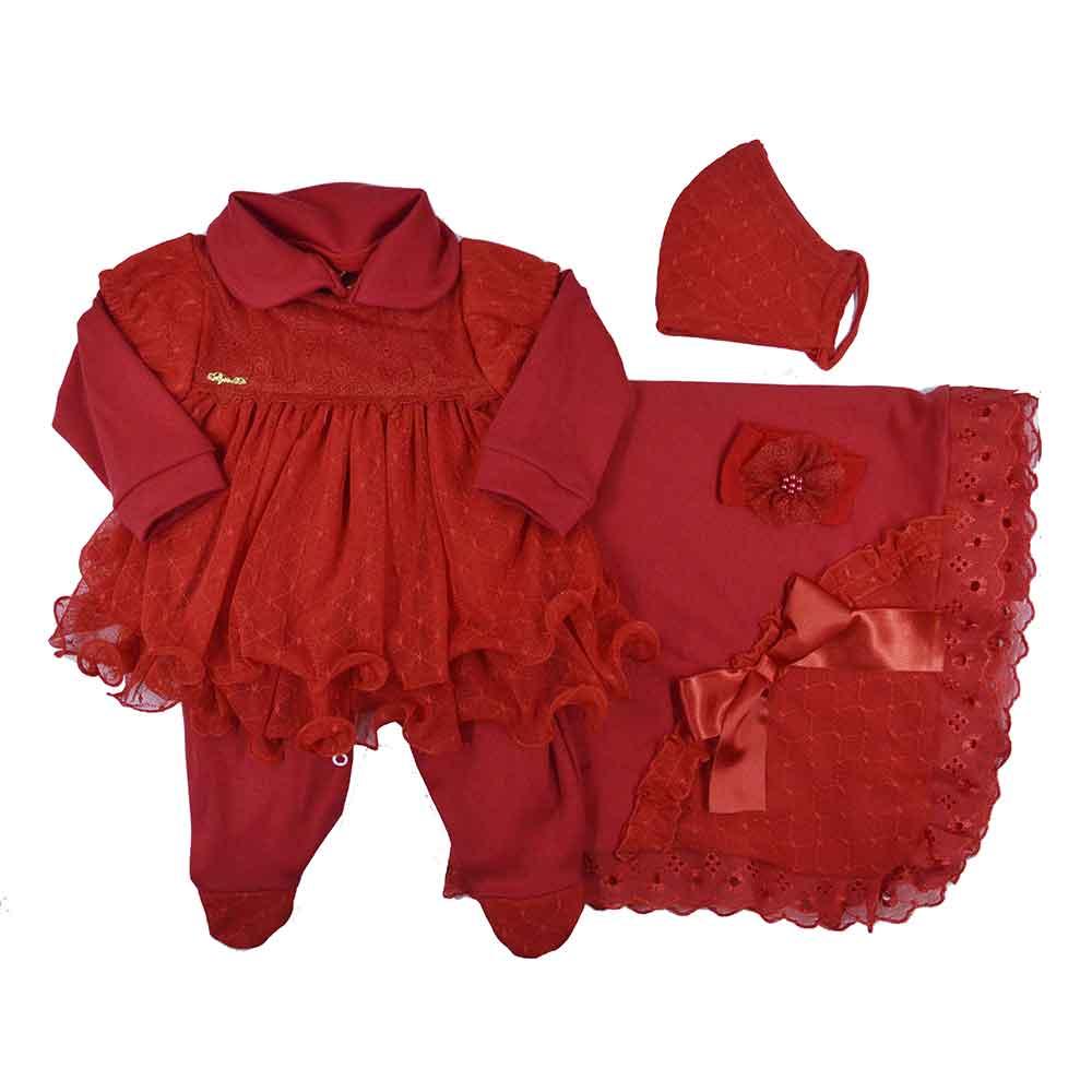 Saída Maternidade Vermelha  Djiele ref.2133