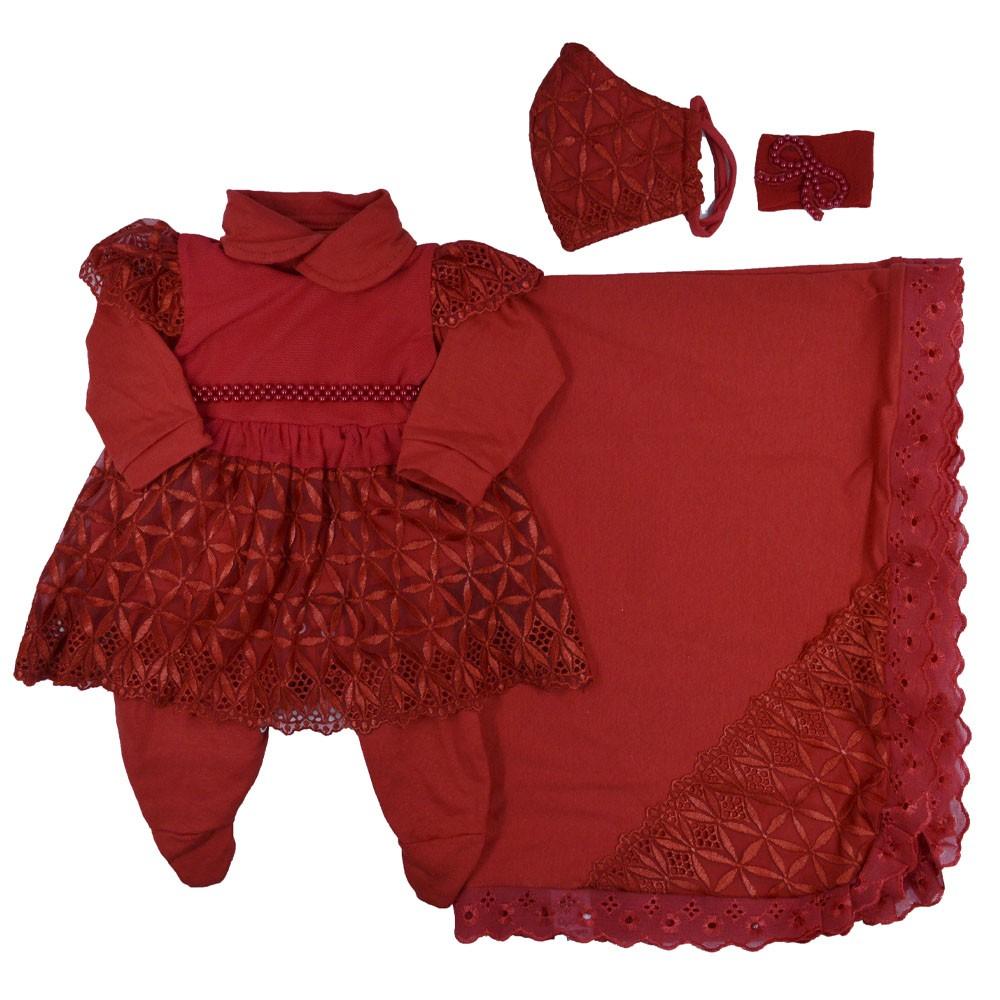 Saída Maternidade Vermelha  Djiele ref.2134
