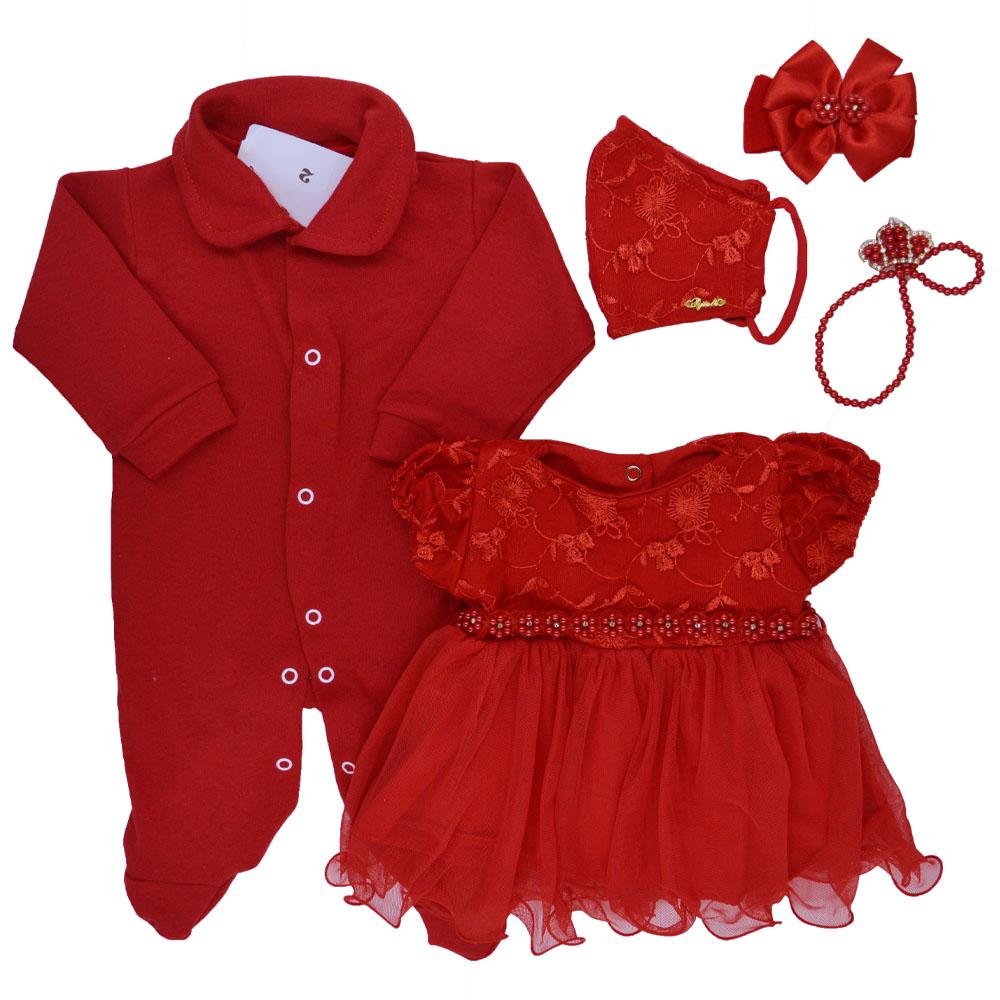 Saída Maternidade Vermelha Djiele ref.2274