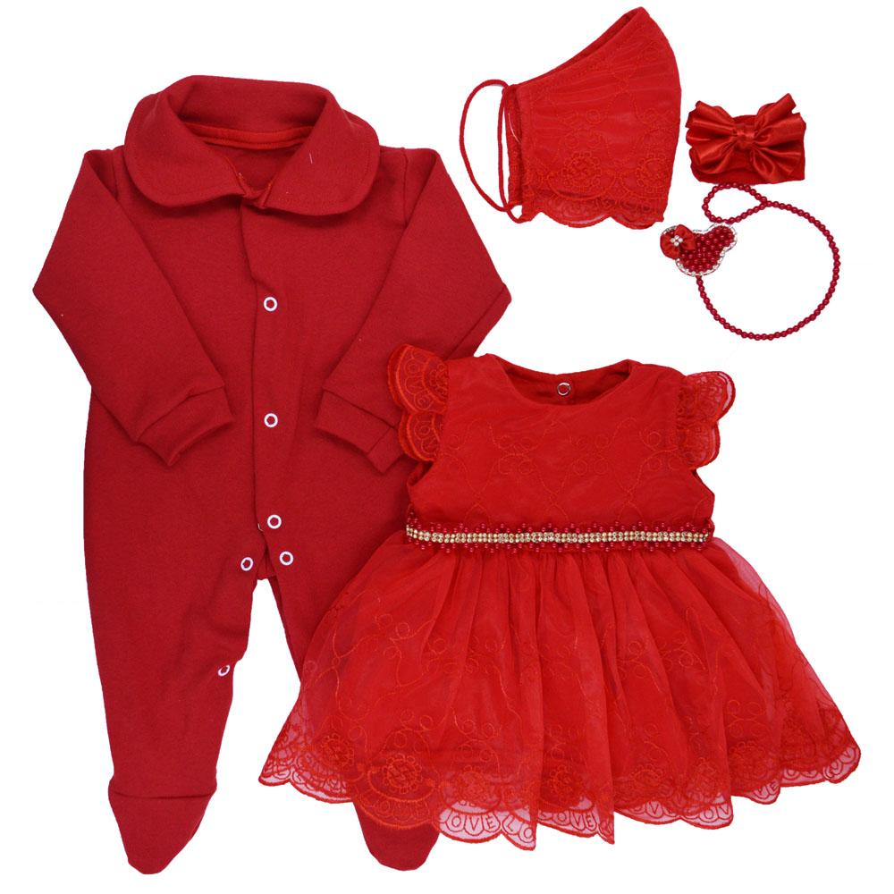 Saída Maternidade Vermelha Djiele ref.2286