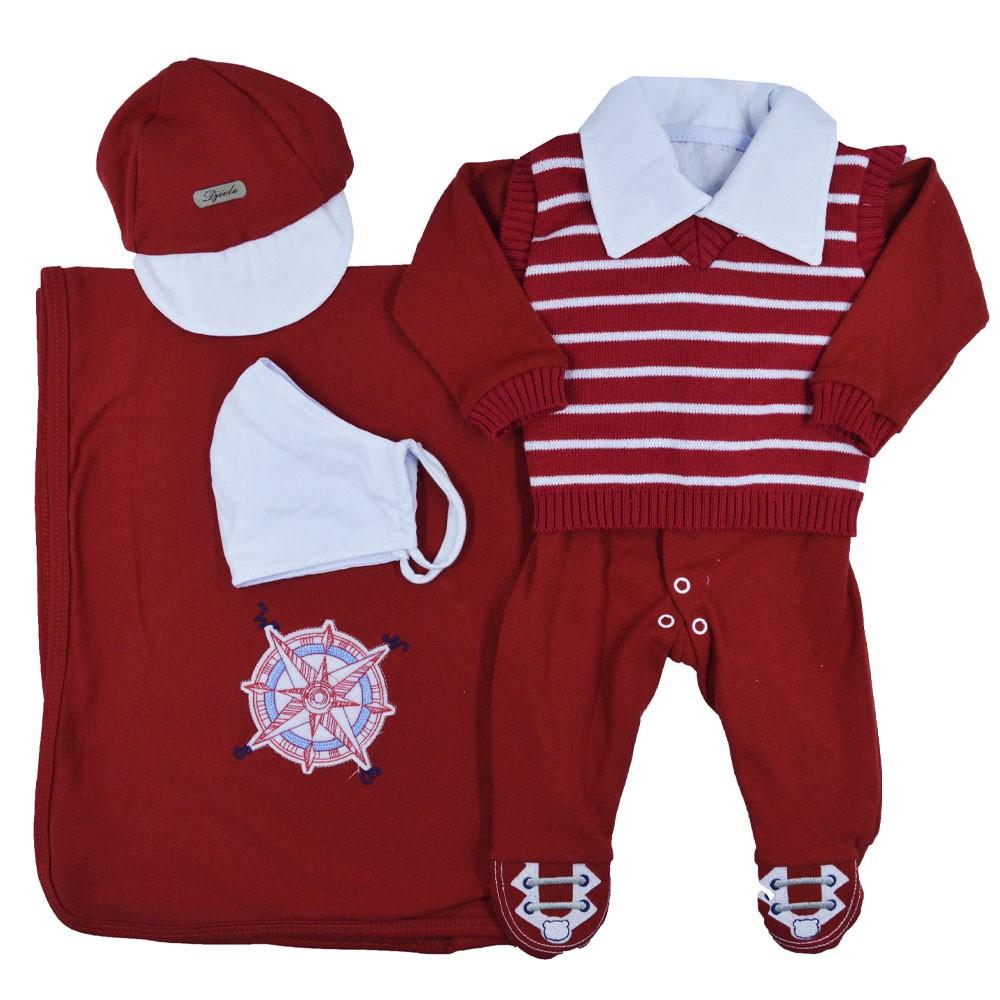 Saída Maternidade Vermelho Djiele ref.2147