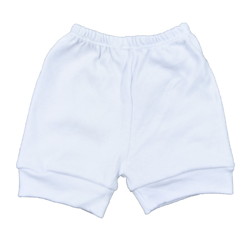 Short de Bebê Tapa Fralda Branco (P/M/G/GG)