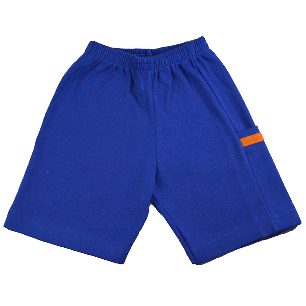 Short Infantil Moletinho Azul Liso