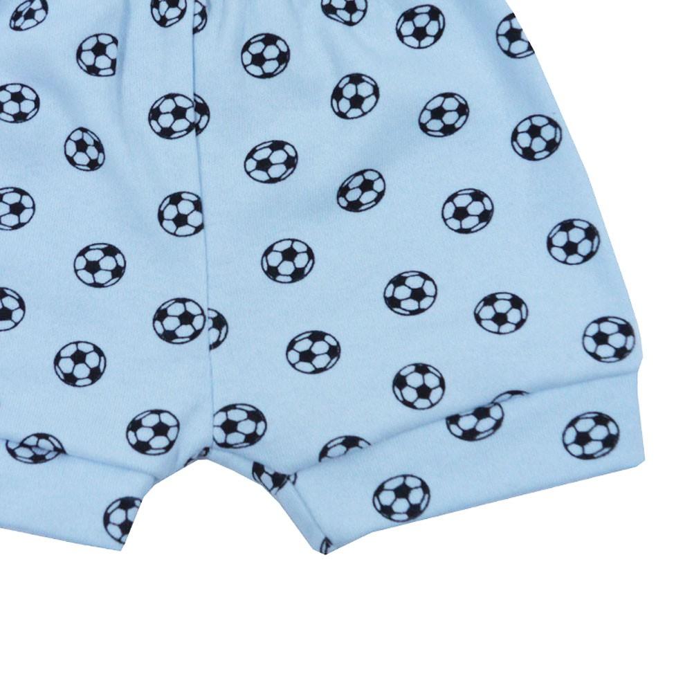 Short Malha Tapa Fralda Azul Futebol (P/M/G)