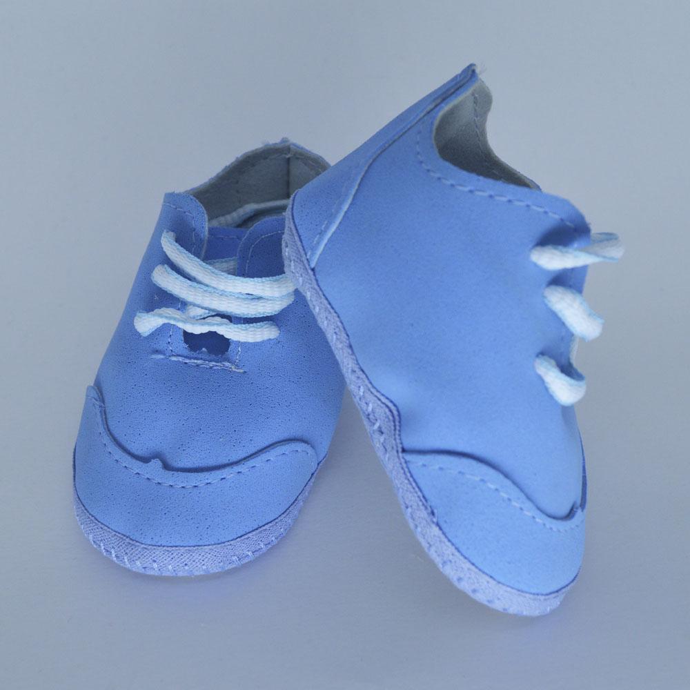 Tênis de Bebê Solado de Pano Azul Celeste (14/15/16/17)