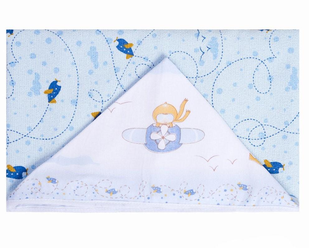 Toalha Felpuda com Capuz e Forro Bebê Papi Aventura (90cmx70cm)