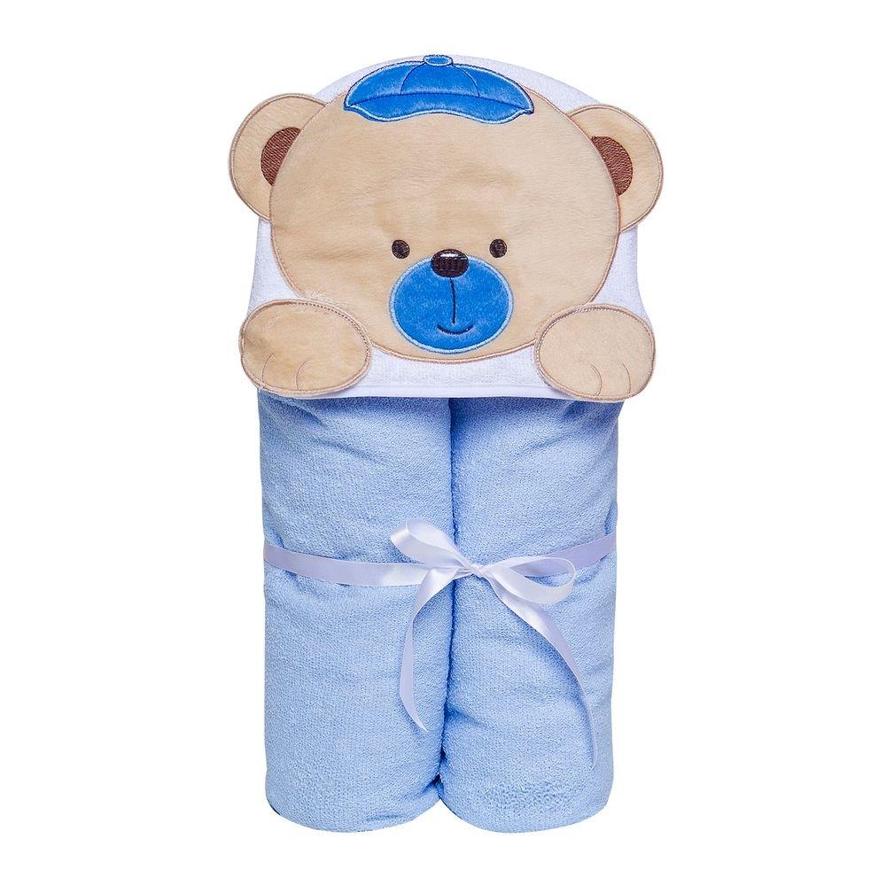 Toalha Papi Toys 90cmx70cm Urso Azul