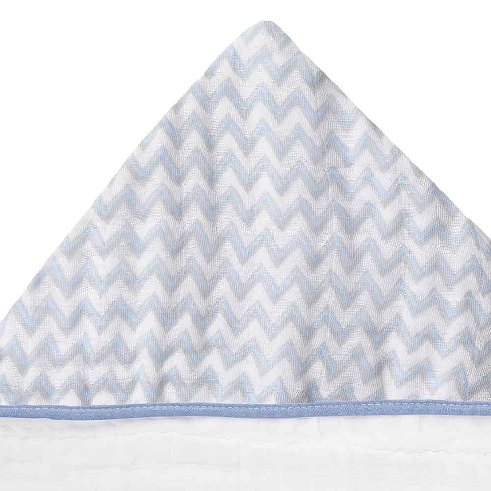 Toalhão Papi Soft Premium Chevron Azul (1,05m X 85cm)