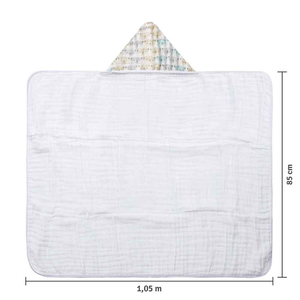 Toalhão Papi Soft Premium Urso (1,05m X 85cm)
