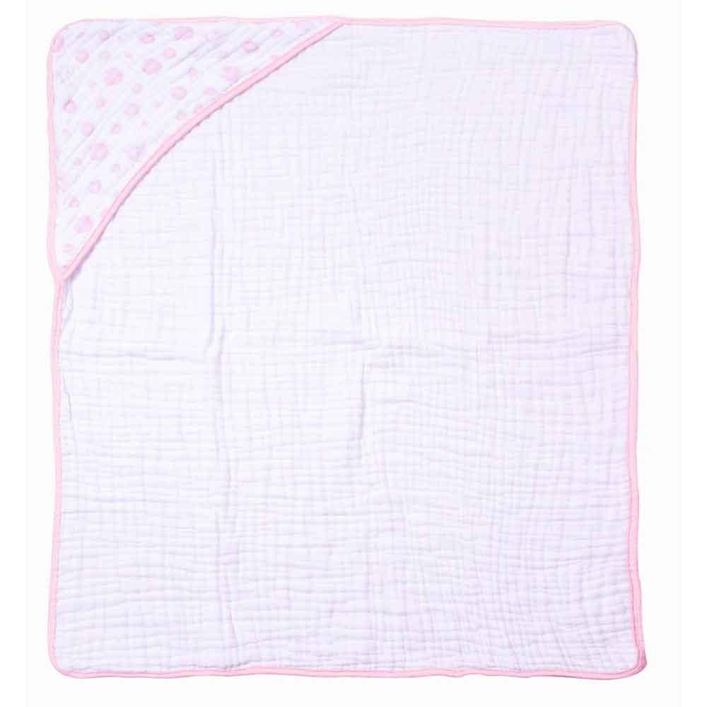 Toalha Soft Papi Tripla Absorção Bolhas Rosa (80cm x 80cm)