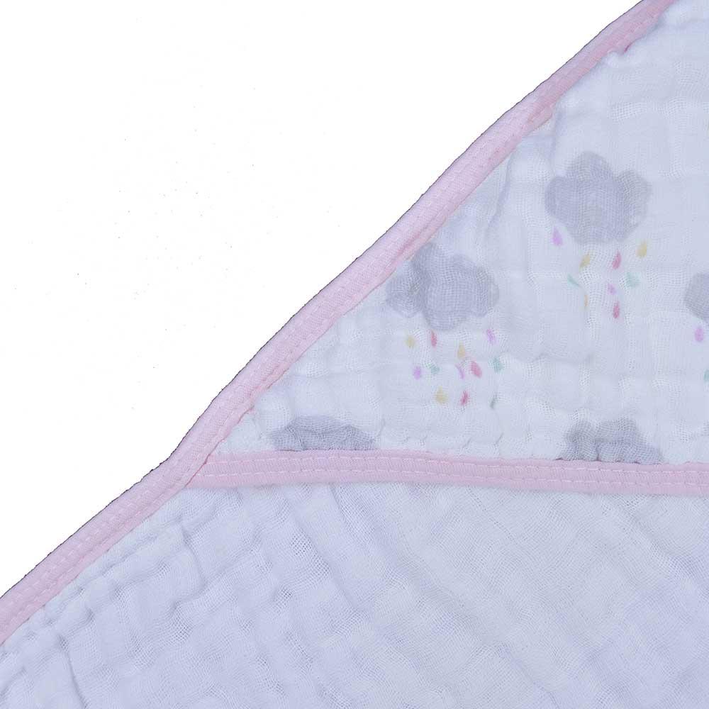 Toalha Soft Papi Tripla Absorção Chuva de Amor (80cm x 80cm)