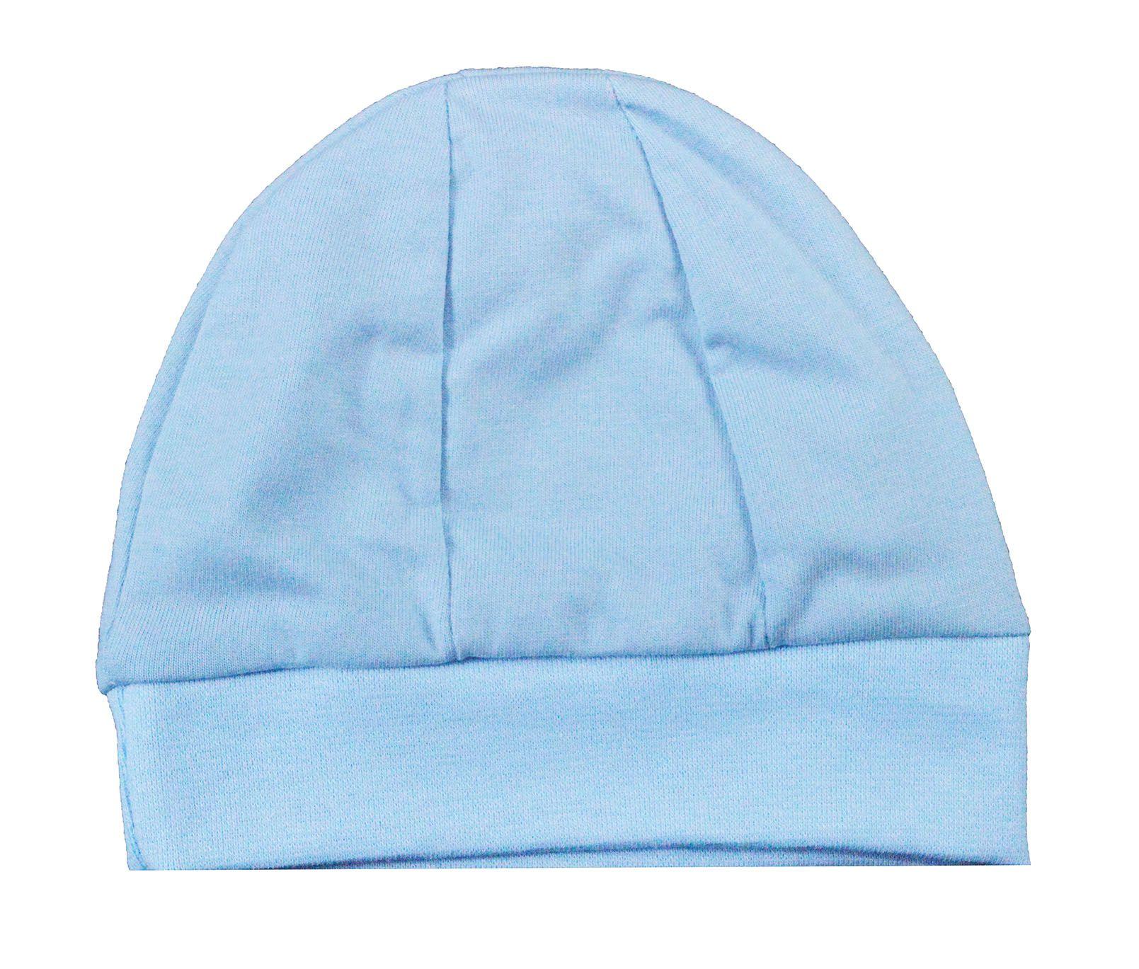 Touca Para Bebê Malha Azul