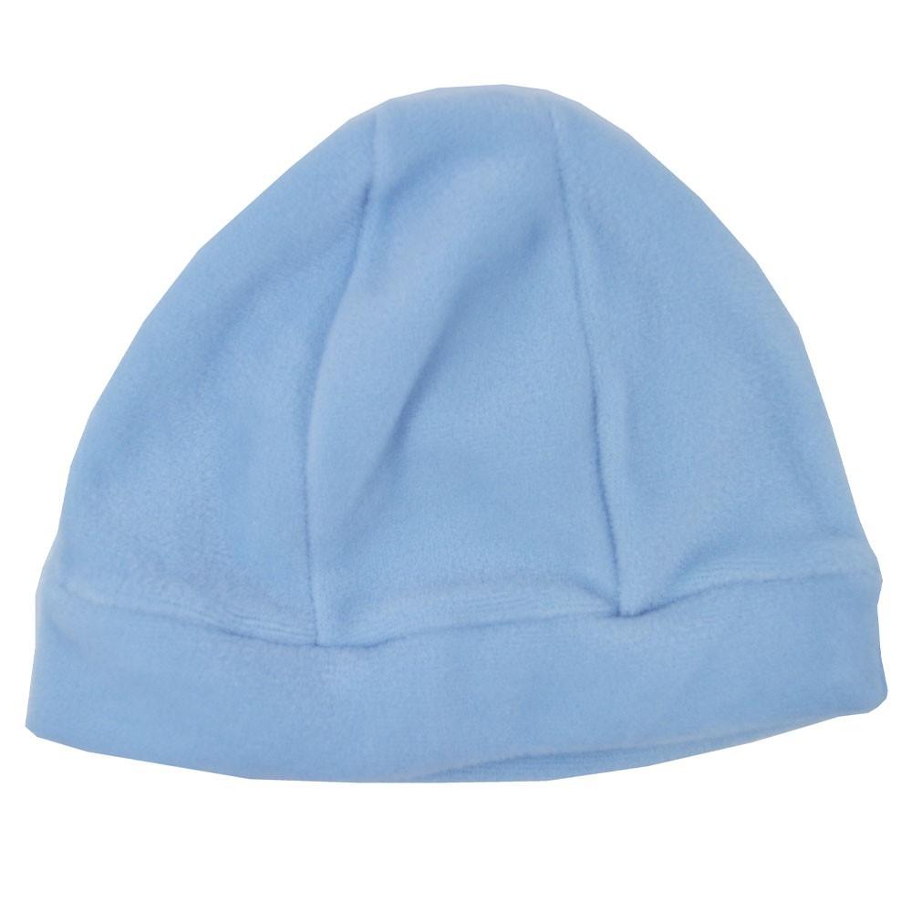 Touca Para Bebê Plush Azul Claro