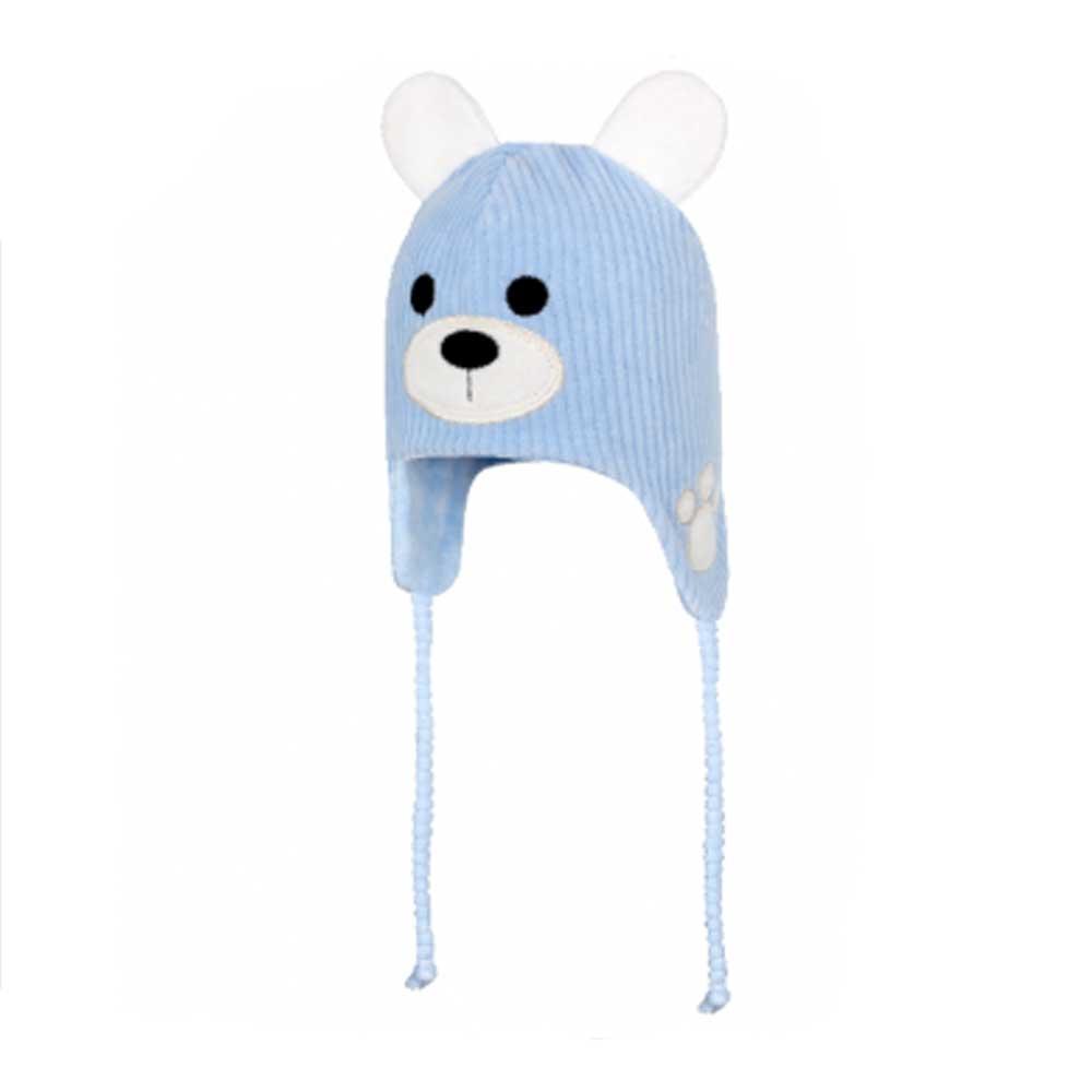 Touca para Bebê Ursinho Azul Everly (P/M/G)