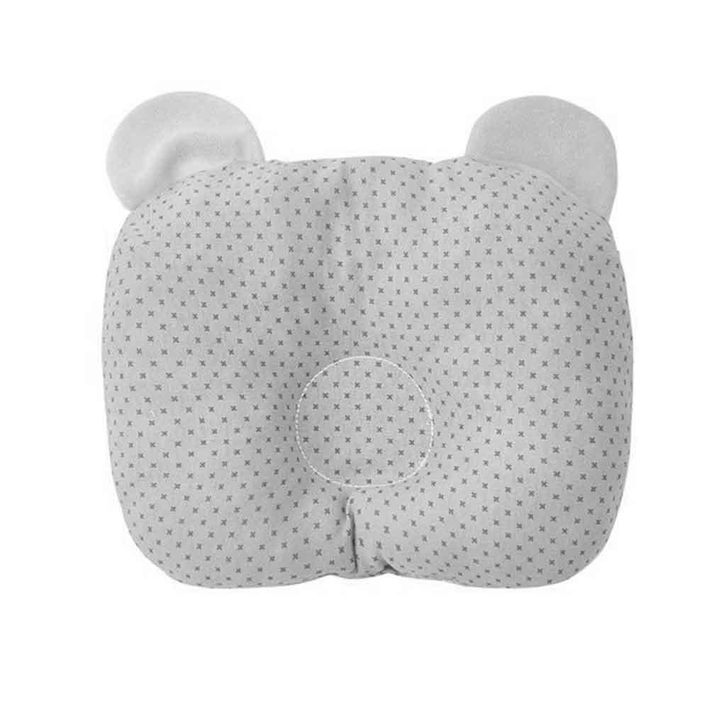 Travesseiro Anatômico com Orelhinha Papi Cinza (23cm x 18cm)