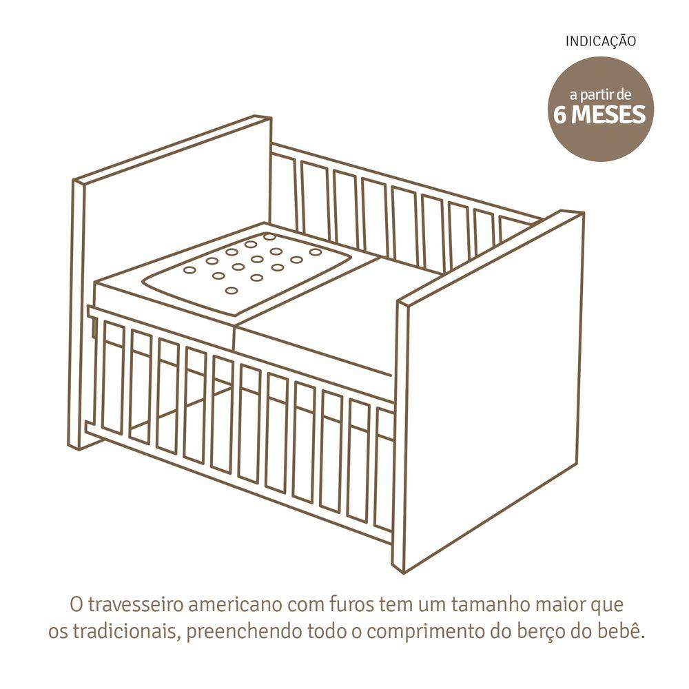 Travesseiro de Bebê Grande Antissufocante Papi Estampas Unissex Sortidas (29cmX19cmX3cm)