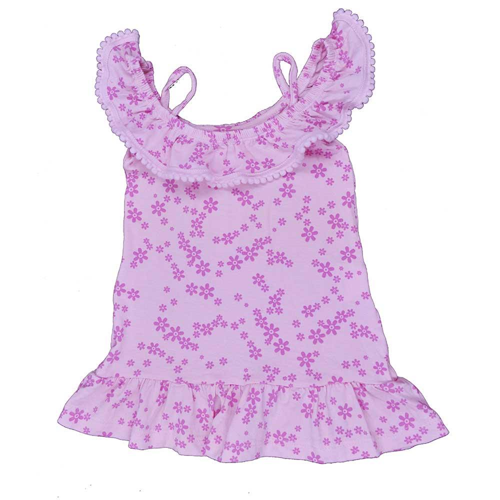 Vestido Infantil Babadinho Flores (1/2/3)