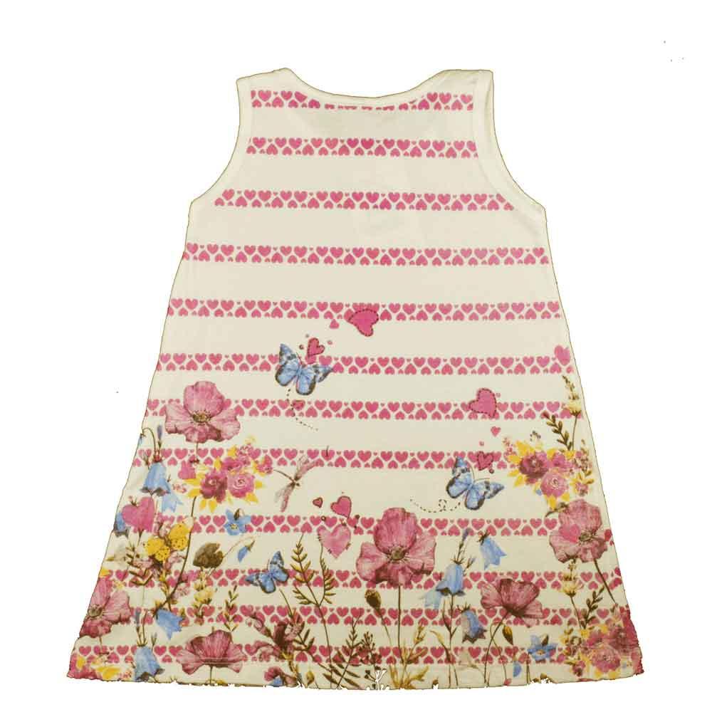 Vestido Infantil KK Jardim Bege