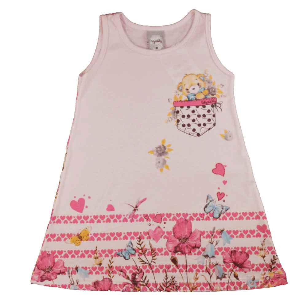 Vestido Infantil KK Jardim Rosa