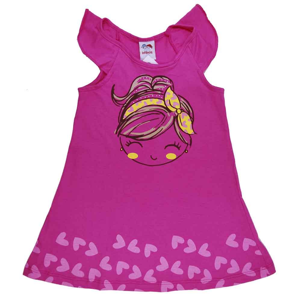 Vestido Infantil Laço Girl Rosa Pink (1/2/3)