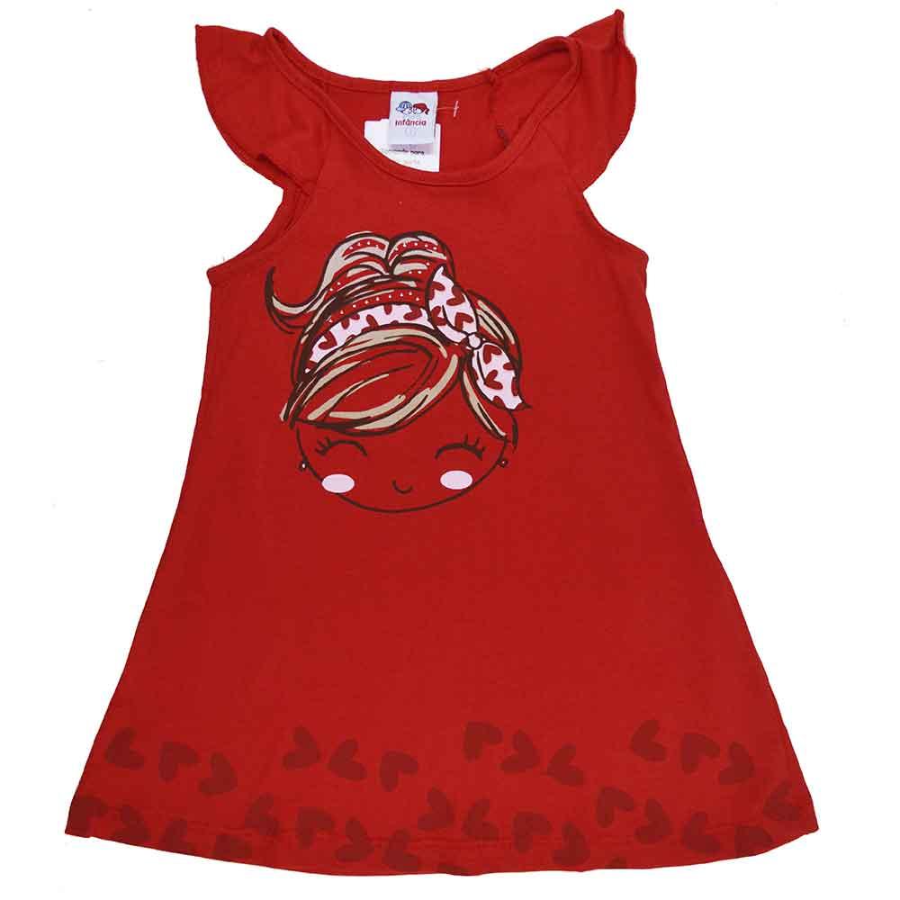 Vestido Infantil Laço Girl Vermelho (1/2/3)