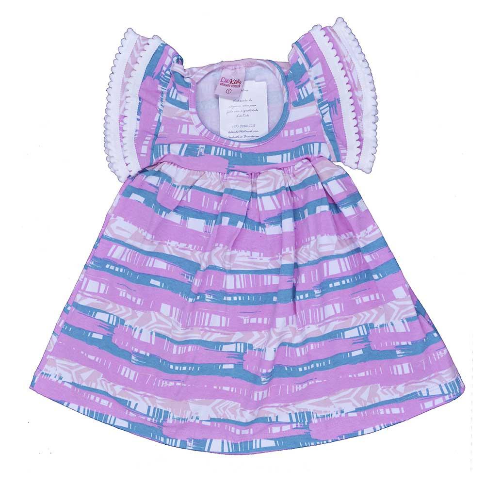 Vestido Infantil Rosa Minimalista (1/2/3)