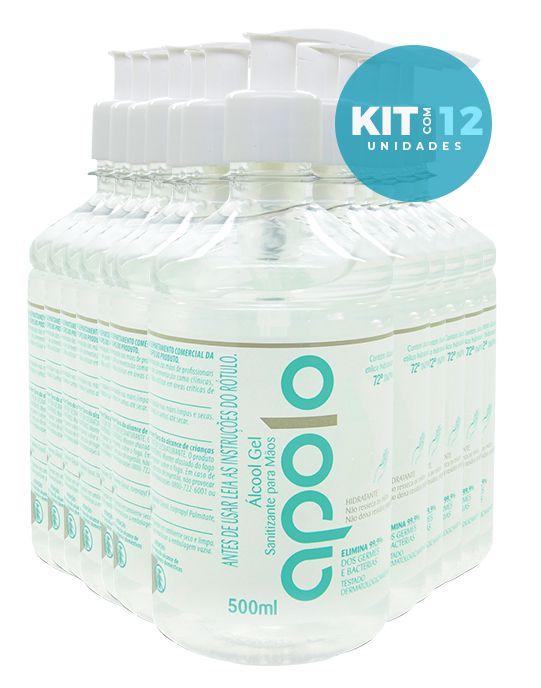 12 Frascos de Apolo Álcool Gel -  Proteção e Hidratação