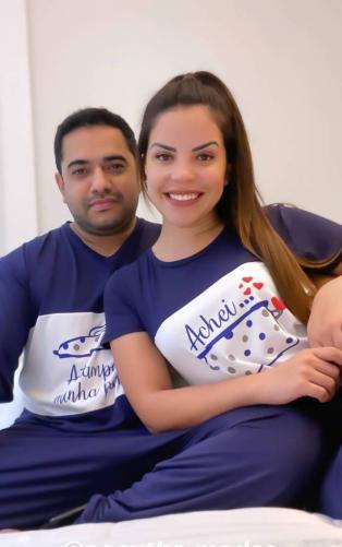 PIJAMA CECYTHA MODAS PANELA MASCULINO MARINHO MODA EVANGÉLICA