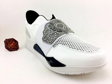 TENIS INSPIRED GIVENCHY RUNNER ELASTIC LEATHER SNEAKERS