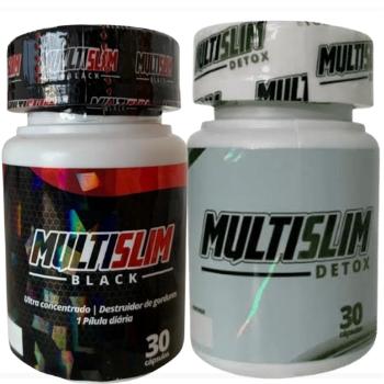 Combo Emagrecedor MultiSlim Black + MultiSlim Detox