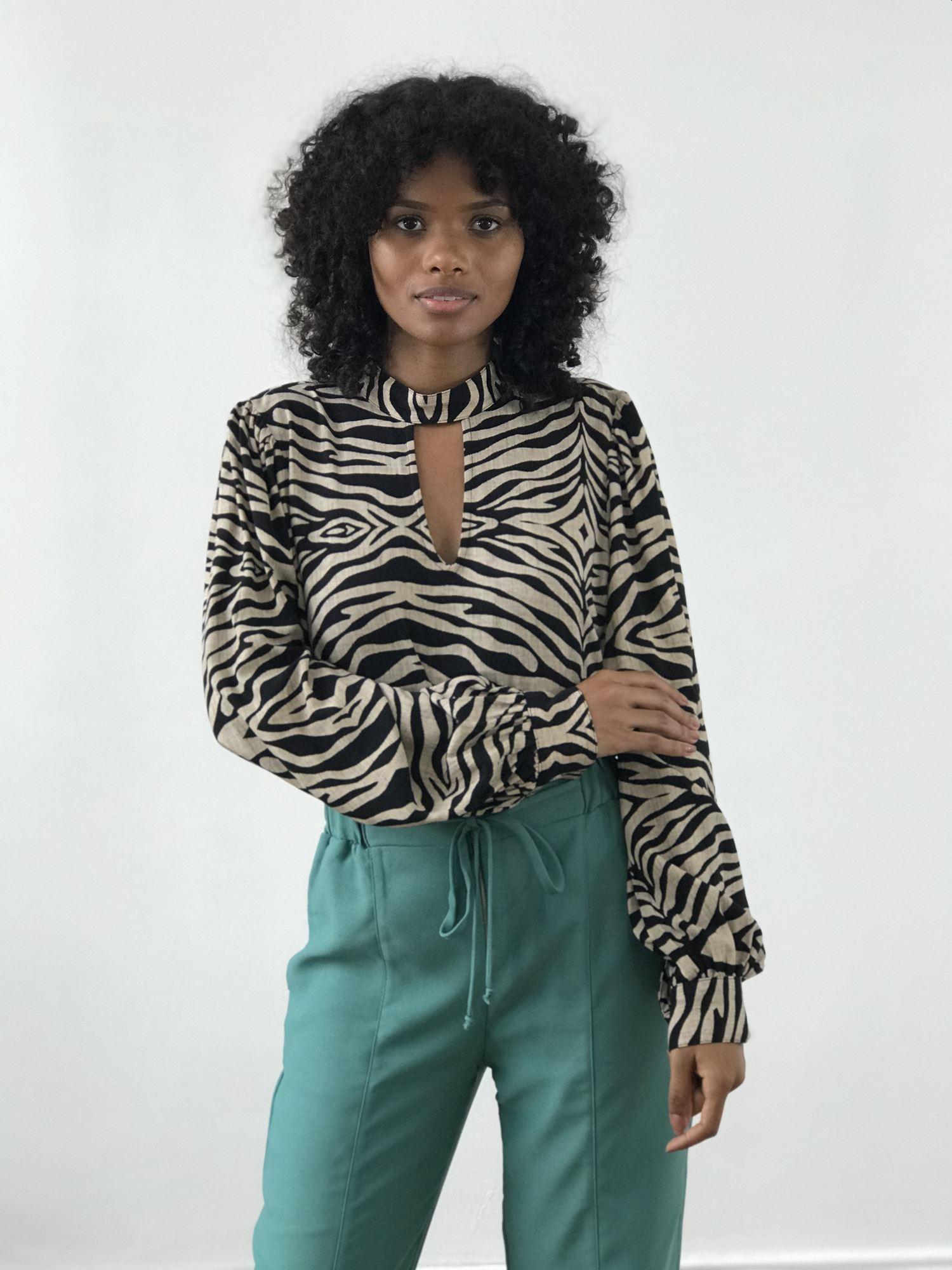 Blusa Estampa Zebra
